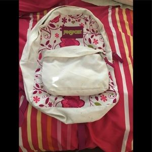Floral Pink Large Jansport Bookbag Backpack